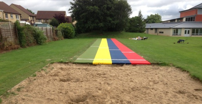 Long Jump Track Surfacing in Witton Gilbert