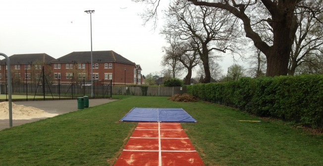 Long Jump Track Flooring in Witton Gilbert