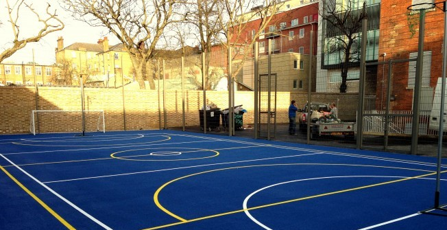 Netball Court Surface Contractors in Whitfield Court