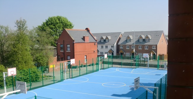 Surfacing Netball Areas in Whitfield Court