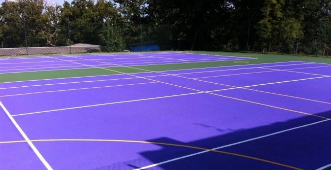 Coloured Tarmacadam Courts in Azerley